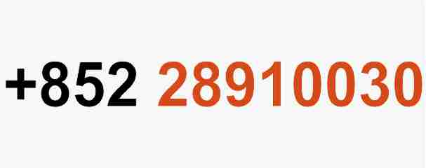 + 852 28910030